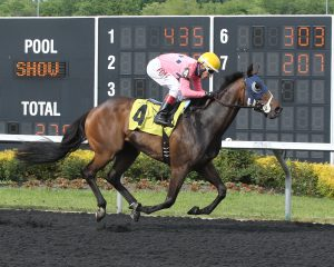 Cherokee Cousin got his first career win at Presque Isle May 31. Photo courtesy of Coady Photography.