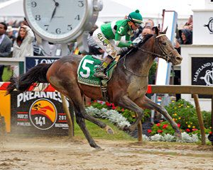 Preakness winner Exaggerator could take on as many as 12 foes in the Belmont. Photo by Anne Eberhardt.