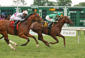 The consistent Middleburg won the Grade 3 Red Bank Stakes Sunday at Monmouth. Photo by Ryan Denver of Equi-Photo.