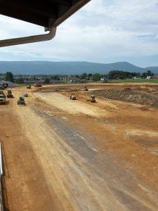 A $700,000 track renovation project continues at Shenandoah Downs.