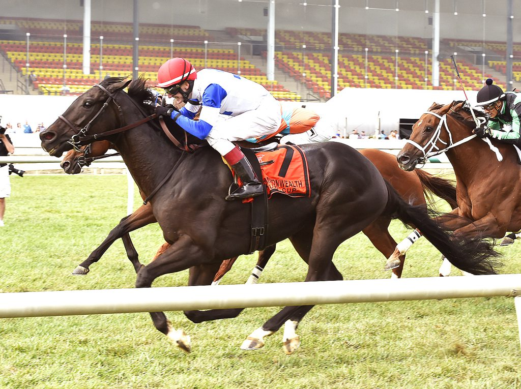 Blacktype, trained by Christophe Clement, squeaked out a victory in Saturday's Grade 2 Turf Cup Stakes at Laurel.