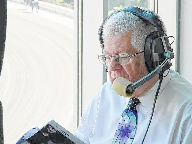 Legendary race caller Roger Huston announced races this past weekend in Woodstock. Shenandoah Downs was the 137th track he has called at.