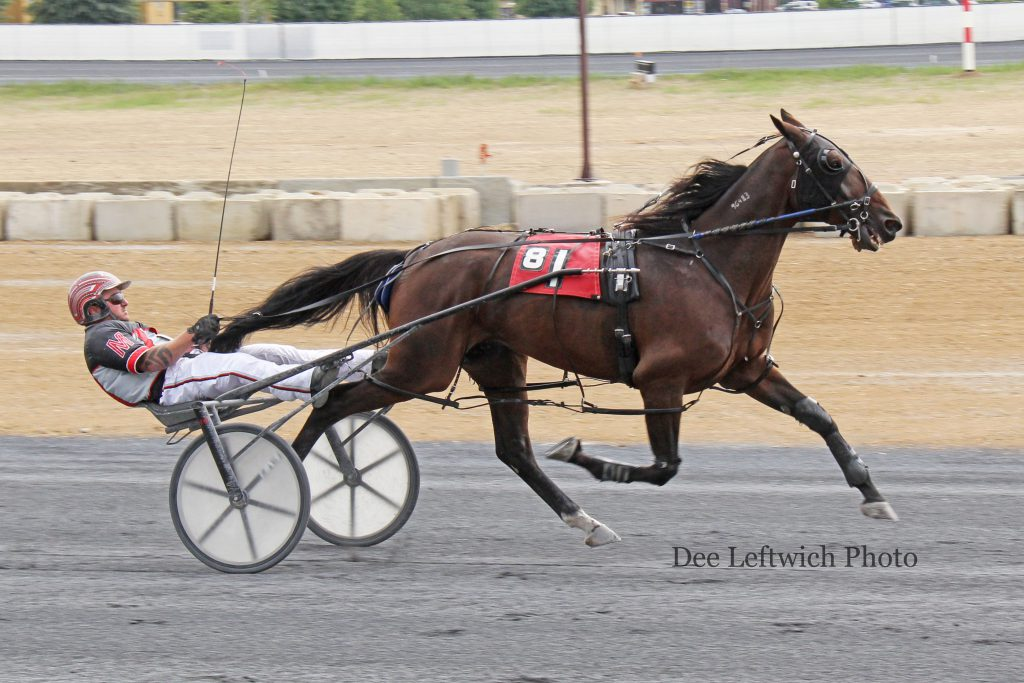 Last Chance Harvey, who was DQ'd after winning last weekend, came back with a wire-to-wire effort Sept. 25th. Photo courtesy of Dee Leftwich.
