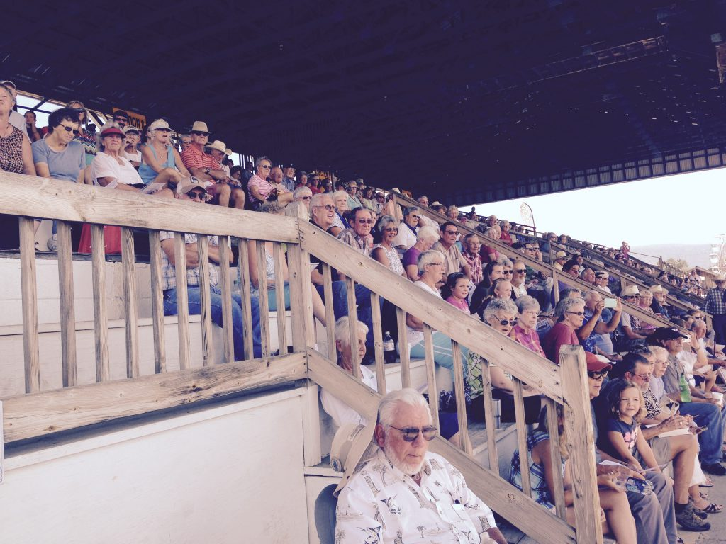 A full house came pout to see the first day of County Fair racing over the renovated track in Woodstock.