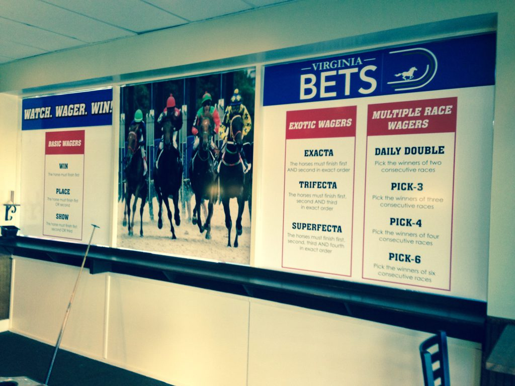 """The Off Track Betting Centers that the Virginia Equine Alliance will open are called """"Virginia Bets"""""""