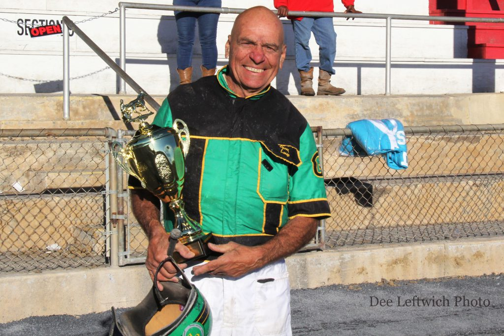 Leading trainer Gerry Longo drove all of his stable's horses en route to top trainer honors. photo by Dee Leftwich.