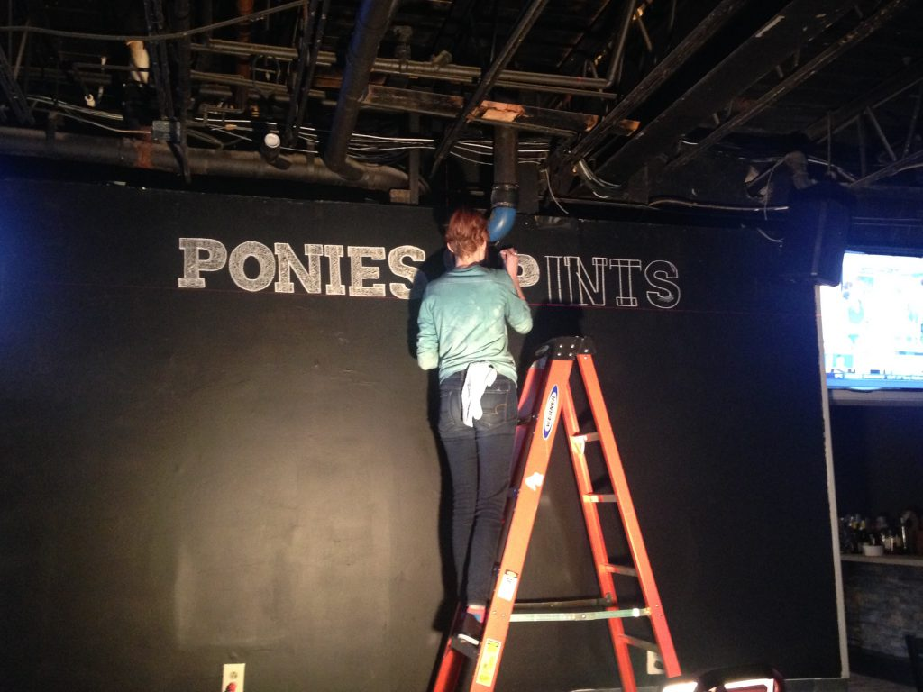 "Work is coming along at the Virginia Equine Alliance's new Off Track Betting Center inside ""Ponies & Pints"" in downtown Richmond."